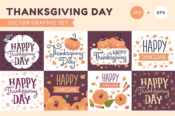 Thanksgiving Day illustrations