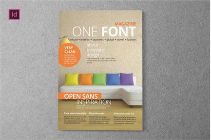 ONE FONT - Magazine Template
