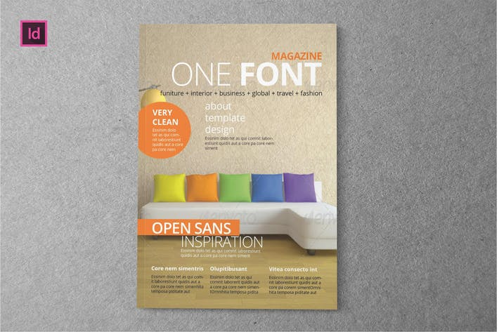 Thumbnail for ONE FONT - Magazine Template