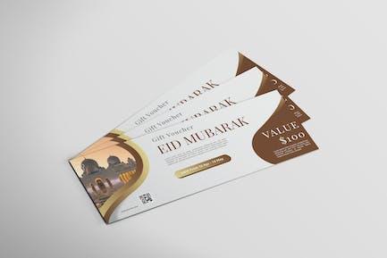 Eid al-fitr - Voucher Design