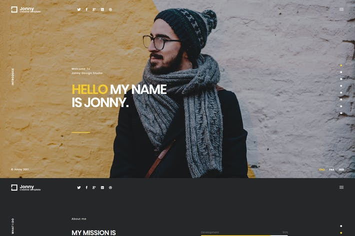 Cover Image For Jonny - Creative Onepage HTML Template