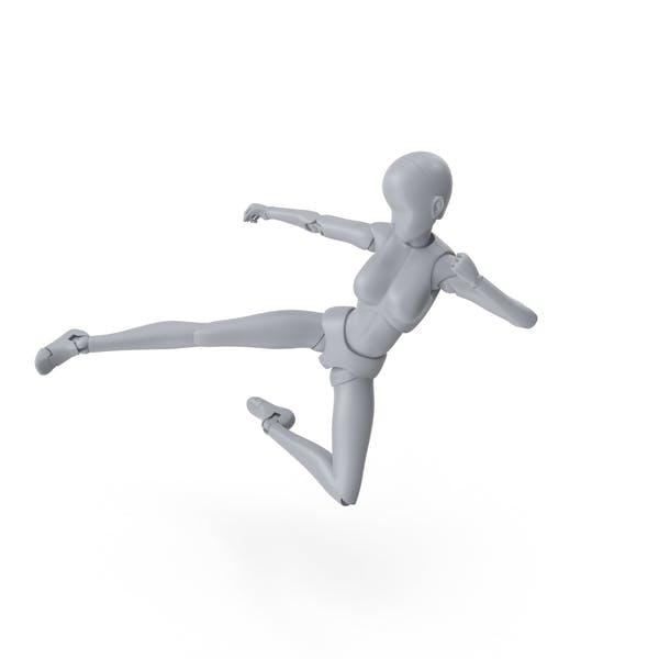 Mannequin Female Kick