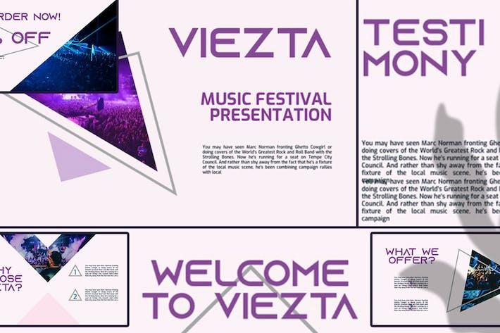Thumbnail for VIEZTA — Фестиваль Бизнес Google Слайды Шаблон
