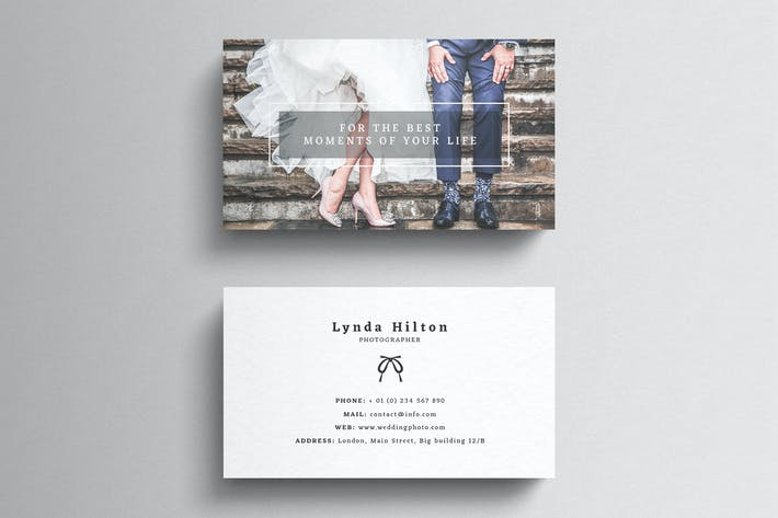 Thumbnail for Wedding Photography Business Card Template