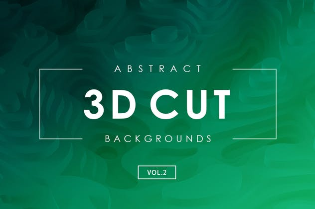 3D Cut Abstract Backgrounds Vol.2