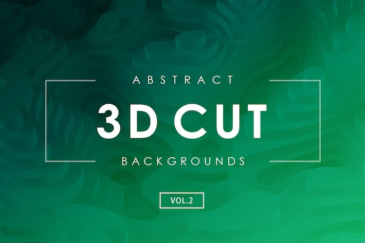 Thumbnail for 3D Cut Abstract Backgrounds Vol.2