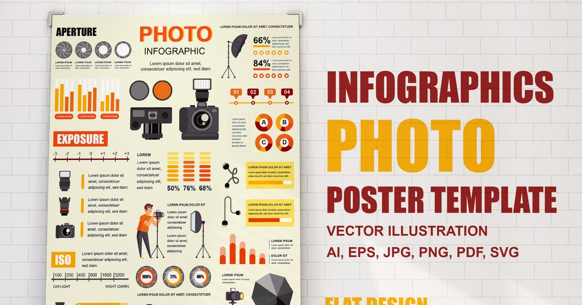 Download Photo Infographics Poster Template by alexdndz