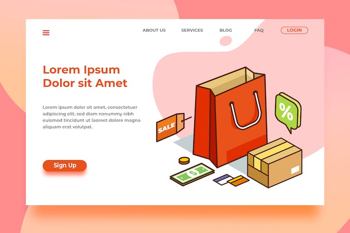 Thumbnail for Shopphing Cart - Banner Landing Page