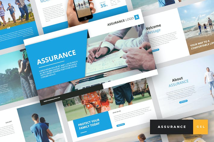 Thumbnail for Assurance - Insurance Google Slides Template