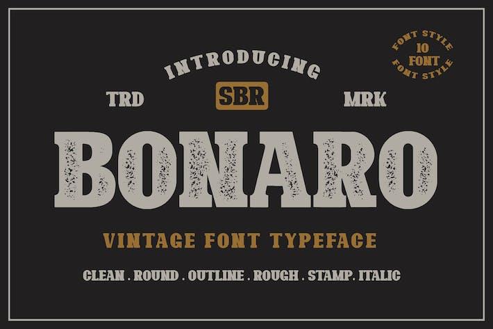 10 Fuente - Bonaro Familia tipográfica