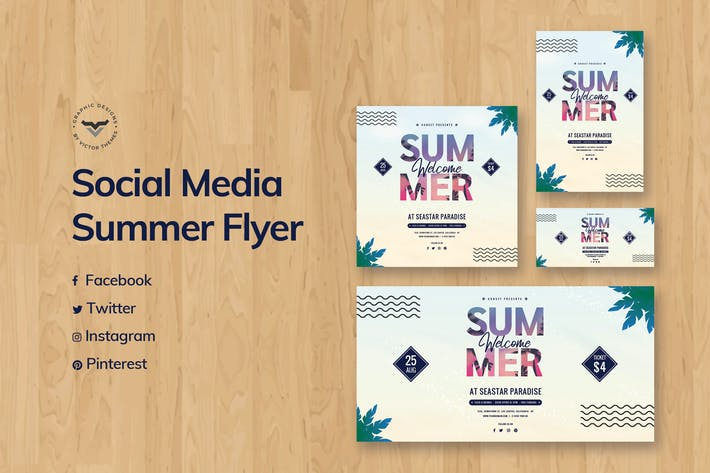 Thumbnail for Summer Social Media Template
