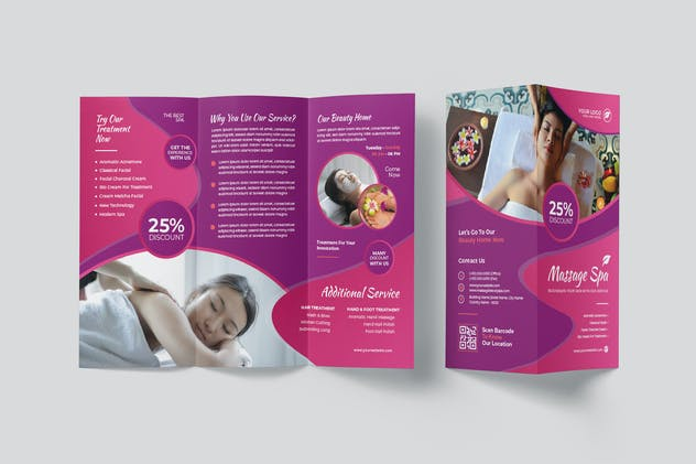 Massage Spa Trifold Brochure