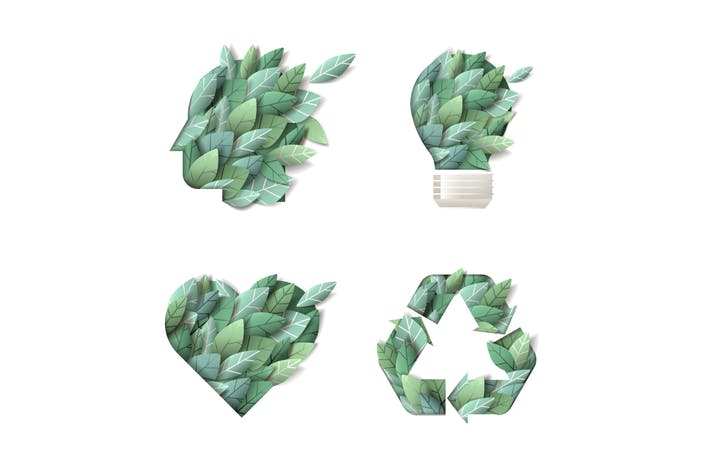 Set of nature concept icons