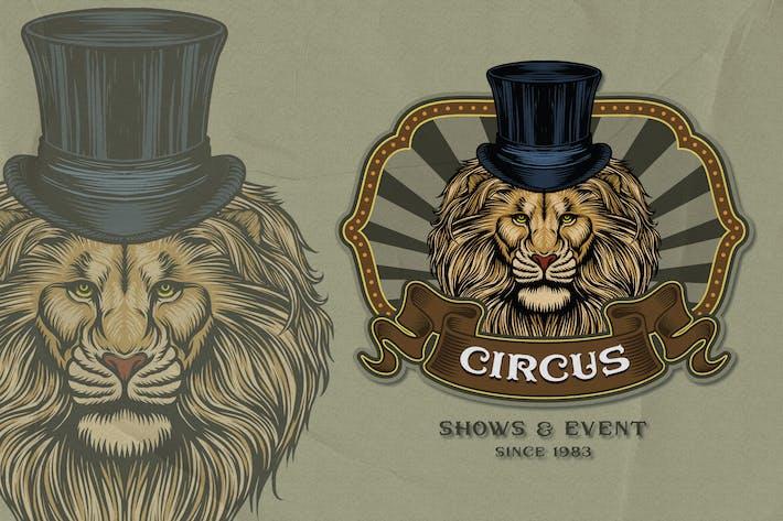 Löwe - Zirkus-Emblem
