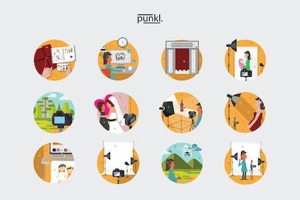 Cameralogy Sceneries Illustration
