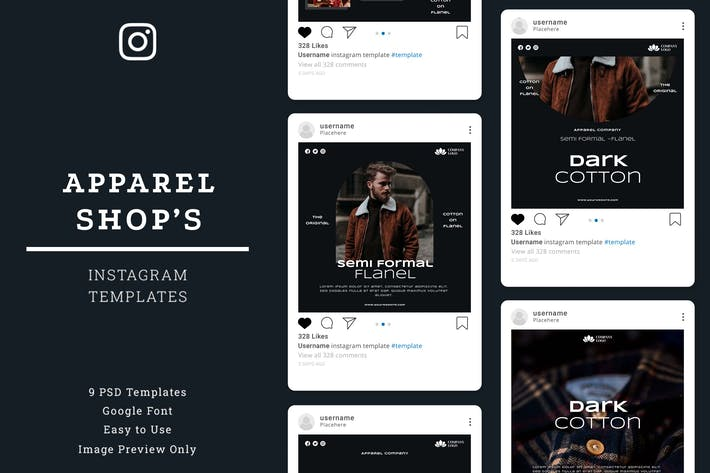 Thumbnail for Apparel Shop Instagram Post Template
