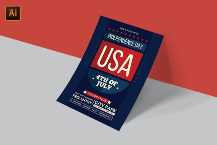 USA Independence Day Flyer Template