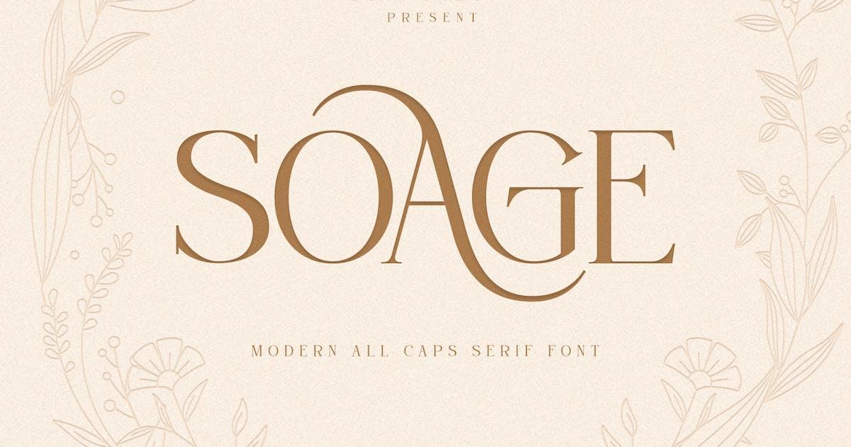 Download Soage-Modern Sans Serif Font by Din-Studio