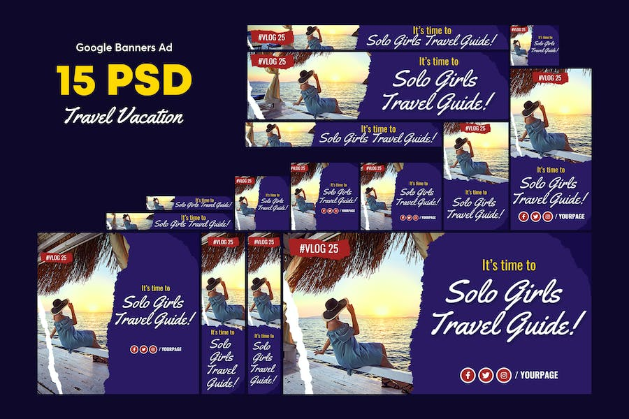 Travel Vacation Banners Ad