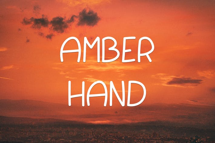 Thumbnail for Amber Hand Font