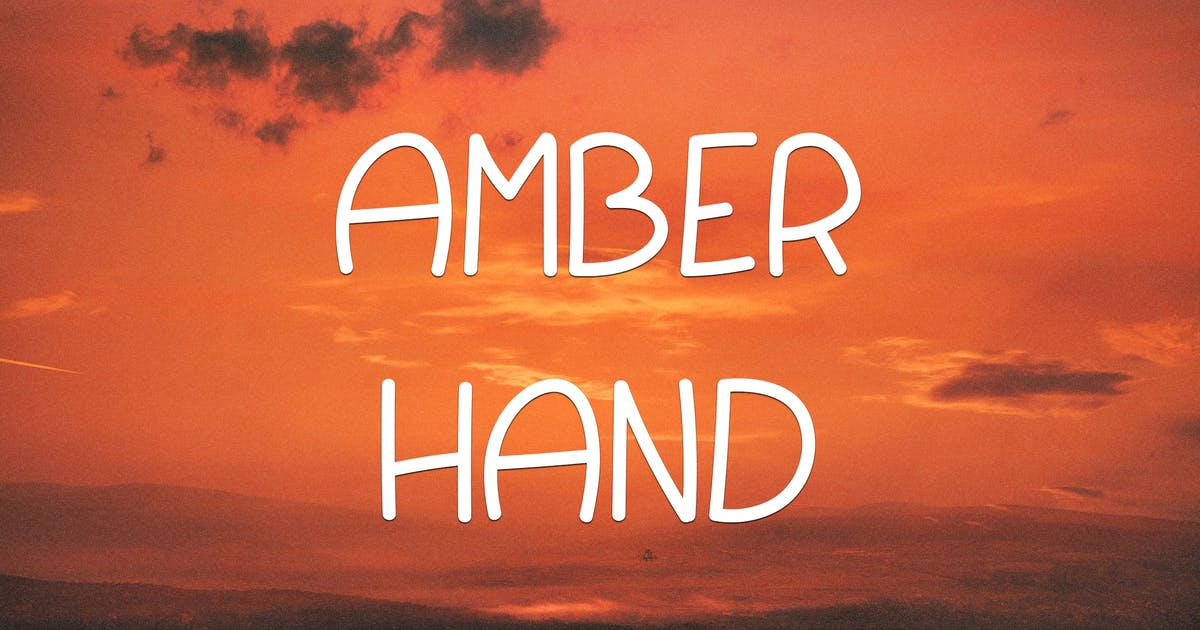 Amber Hand Font by AurJas