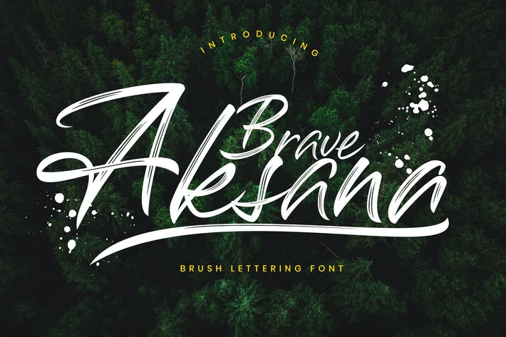 Thumbnail for Aksana Brush Script