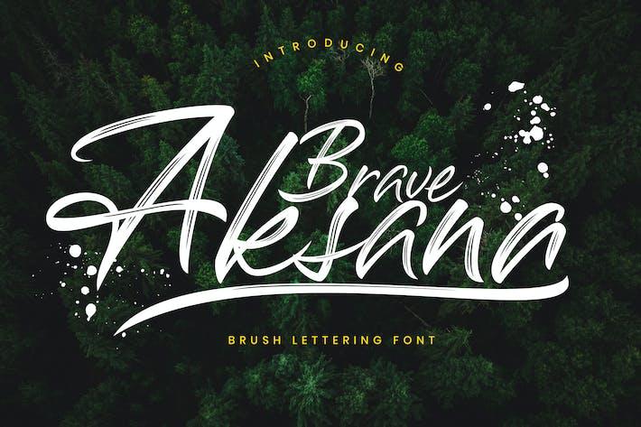 Thumbnail for Aksana Brush Script