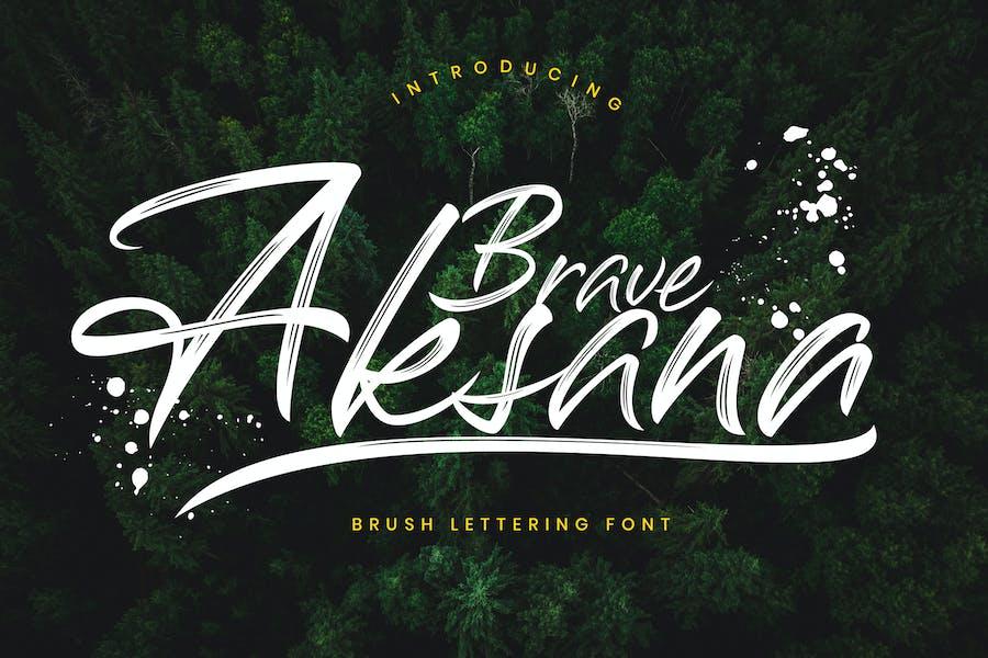 Aksana Brush Business Font