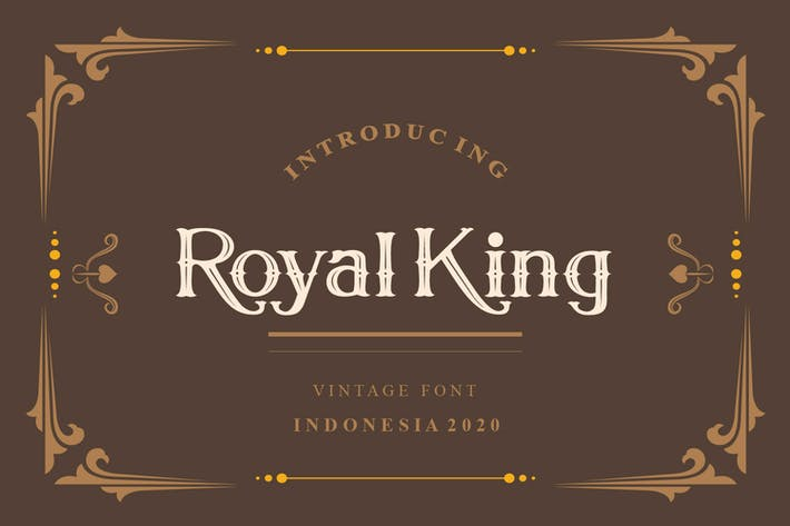 Cover Image For Royal King Vintage Serif Modern Font