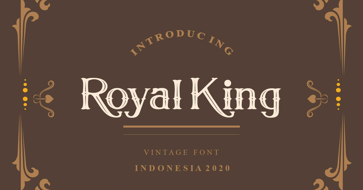 Download Royal King Vintage Serif Modern Font by maulanacreative