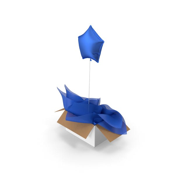 Blue Star Balloon Surprise Box