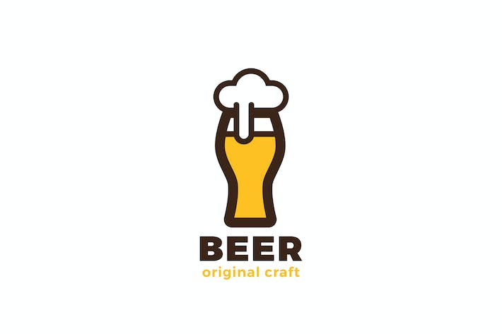 Thumbnail for Pub Bar Brewery Logo Craft Beer Glass