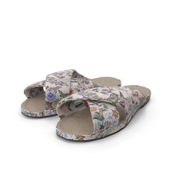 Floral Fabric Shoes