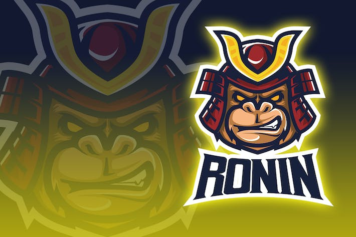 Thumbnail for Ronin Monkey Esport Logo