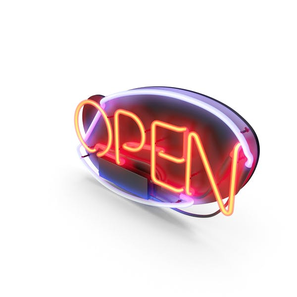 Thumbnail for Open Neon Sign