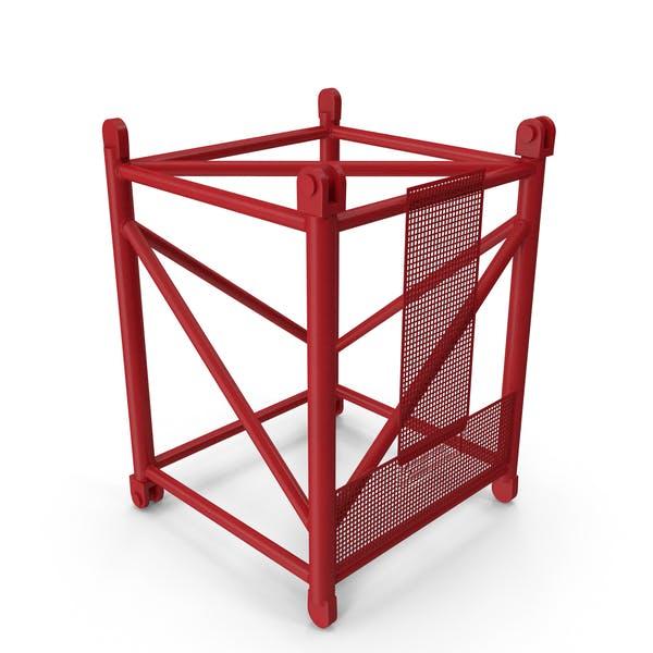 Кран промежуточная секция 3м красный