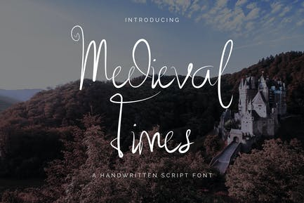 Medieval Times - Handwritten Script Font