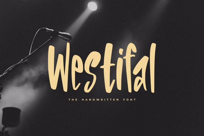 Thumbnail for Westifal - The Handwritten Font