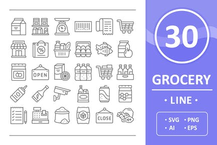 Grocery Icons - Line