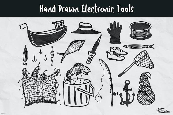 Thumbnail for Hand Drawn Fishing Stuff