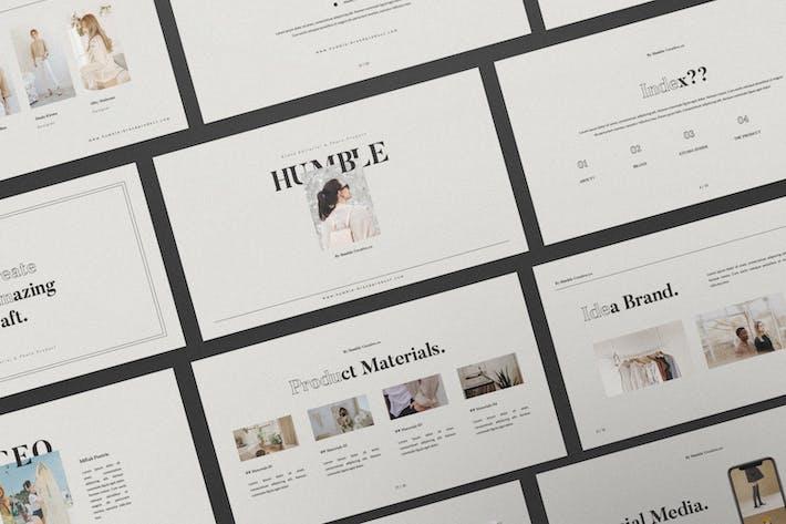 Thumbnail for Humble Brand Book Keynote Presentation