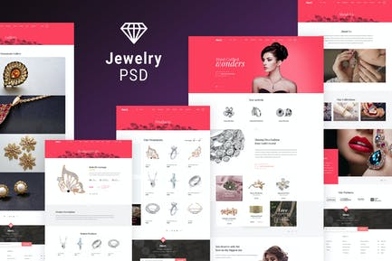 Jewelry Shop - eCommerce Photoshop Template