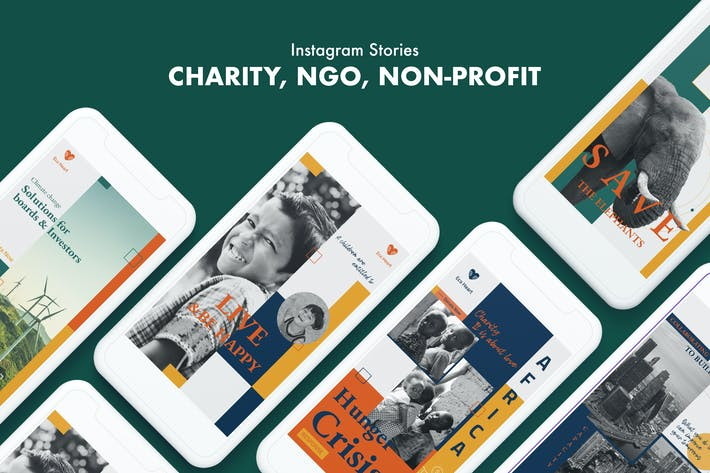 Thumbnail for Charity, ONG, Historias de Instagram sin fines de lucro