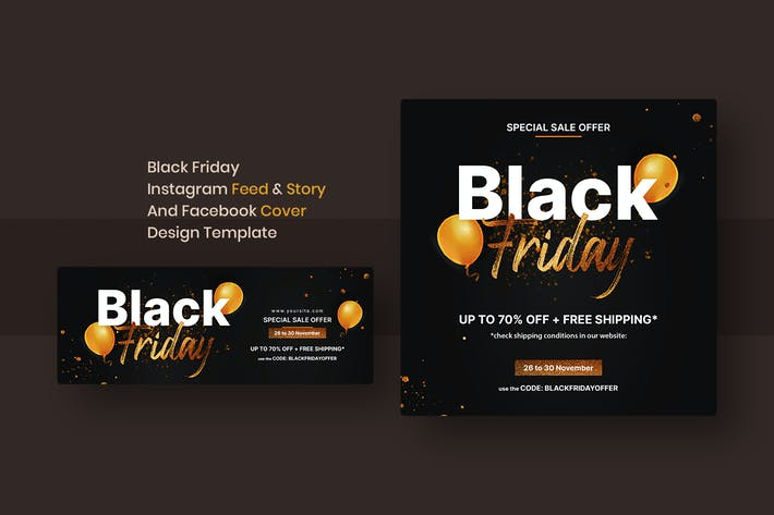 Black Friday Instagram Feed & Story And Facebook C
