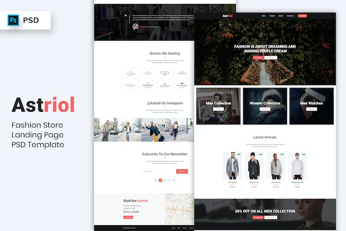 Thumbnail for Fashion Store - Landing Page PSD Template