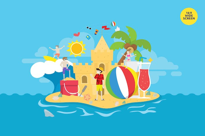 Thumbnail for Summer Holiday Beach Party Vector Concept
