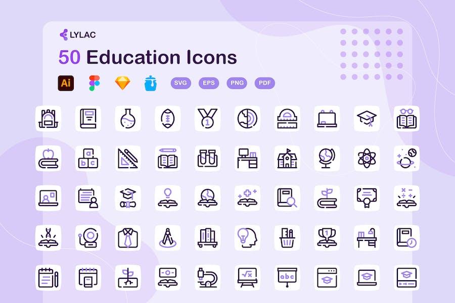 Lylac - Education Icons