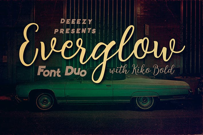 Thumbnail for Everglow Script Font Duo