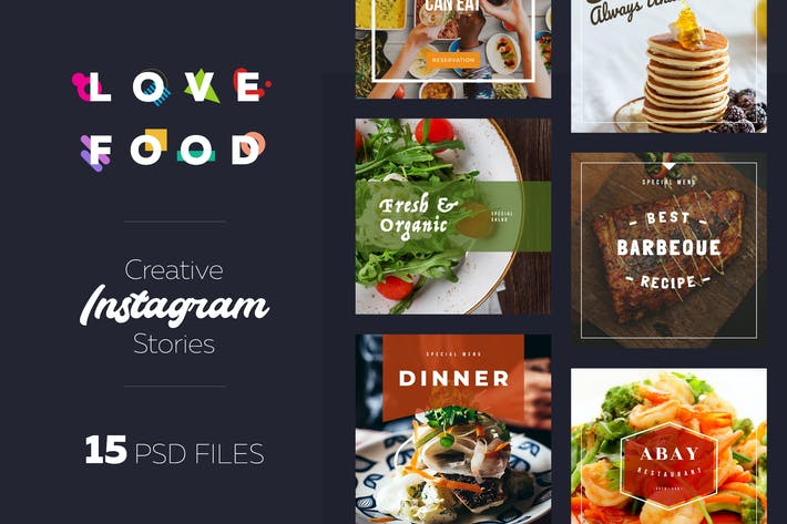 Thumbnail for Instagram Food Lovers Banners