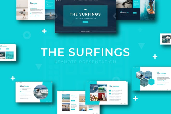 Thumbnail for The Surfing - Keynote Template